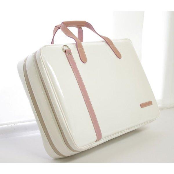 画像2: 2コンパート ブリーフケース 「Deniro/wf」(フルート,オーボエ,クラリネット対応) ホワイト / ピンク