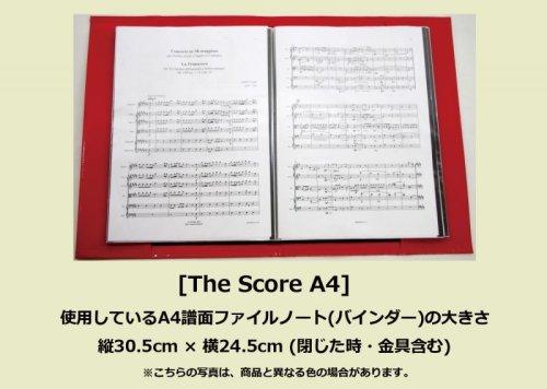 1: A4譜面ファイルカバー 「The Score A4」 マットディープピンク
