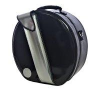 ハンドメイド 3WAY 専用リュック式 (取り外し不可) スネアドラムケース bigger size 「Great Gatsby 2」ブラック/シルバーポケット *スティックケースポケットあり