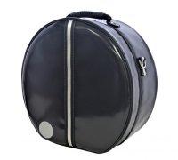 ハンドメイド 3WAY 専用リュック式 (取り外し不可) スネアドラムケース bigger size 「Great Gatsby 2」ブラック/ブラック・シルバーライン *スティックケースポケットなし